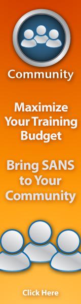 Community SANS Training