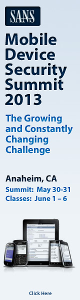 Mobile Device Security Summit 2013 - Anaheim