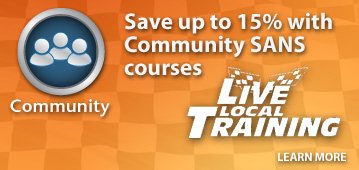 Save up to 15% on Community SANS courses