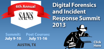 Digital Forensics & Incident Response Summit 2013 - Austin