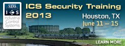 ICS Security Training 2013 - Houston