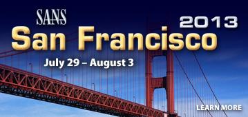 SANS San Francisco 2013