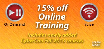 15% off Online Training