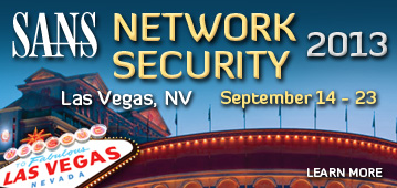 Network Security 2013 - Las Vegas