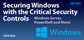 SEC505: Securing Windows