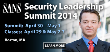 Security Leadership Summit 2014 - Boston - MA