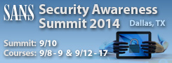 Security Awareness Summit 2014 - Dallas
