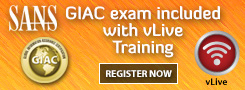 GIAC exam included with vLive Training