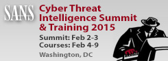 Cyber Threat Intelligence Summit 2015 - DC