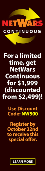 NetWars Continuous Special Offer