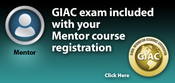 GIAC Exam Included with Mentor Class