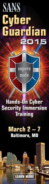 Cyber Guardian 2015 - Baltimore