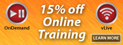 15% off Online Training