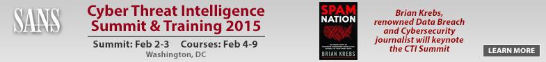 Cyber Threat Intelligence Summit 2015 - DC