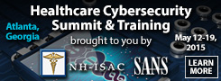 Healthcare Cybersecurity Summit 2015 - Atlanta