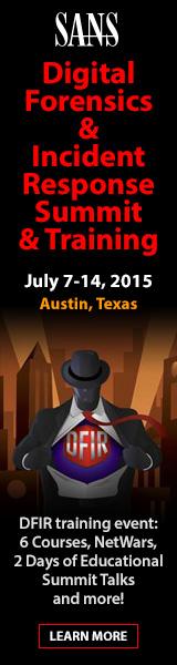 DFIR Summit 2015 - Austin