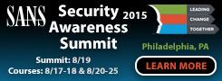 Security Awareness Summit 2015 - Philadelphia