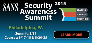 Security Awareness Summit 2015 - Philadelphia