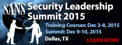 Security Leadership Summit - Dallas