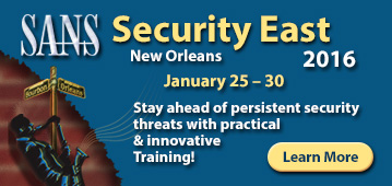 Security East 2016 - New Orleans