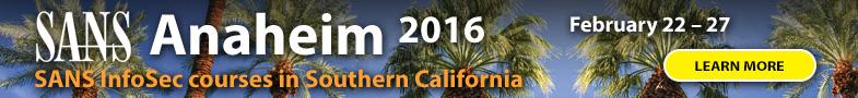 Anaheim - 2016