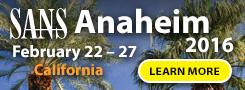 Anaheim 2016