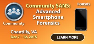 Community SANS - FOR585
