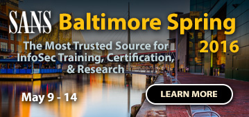 Baltimore Spring 2016