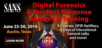 DFIR Summit 2016 - Austin