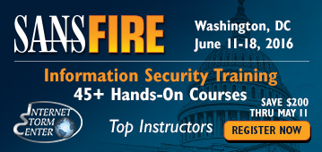 SANSFIRE 2016 - Washington