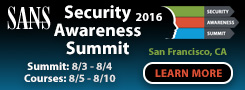 Security Awareness Summit & Training 2016 - San Francisco