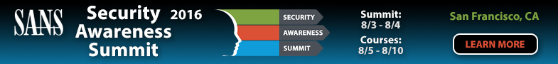 Security Awareness Summit & Training 2016 - San Francisco