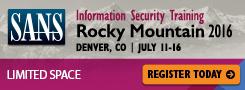 Rocky Mountain 2016 - Denver