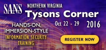 Northern Virginia - Tysons Corner 2016