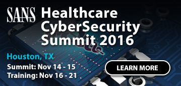 Healthcare CyberSecurity Summit - Houston