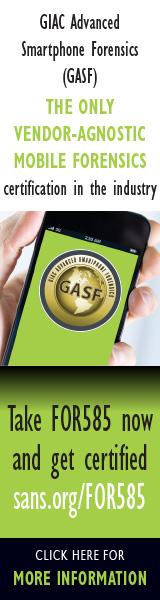 GASF GIAC Advanced Smartphone Forensics Cert