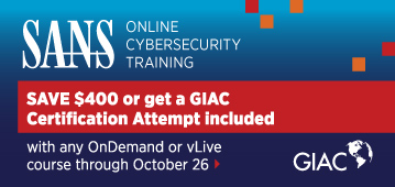 GIAC Cert Attempt Included with Online Training