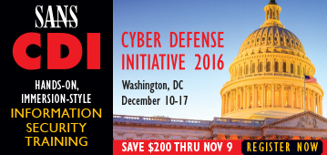 CDI 2016 - Washington