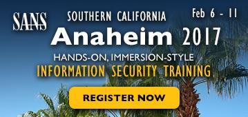 Southern California - Anaheim 2017