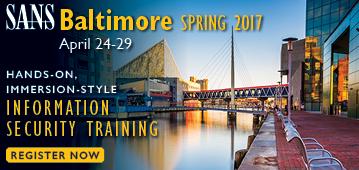 Baltimore Spring 2017