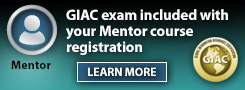 GIAC exam included with Mentor courses