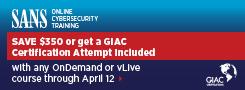 Get a GIAC Cert Attempt with Online Training