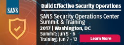 Security Operations Center Summit - DC