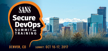 Secure DevOps Summit &  Training - Denver