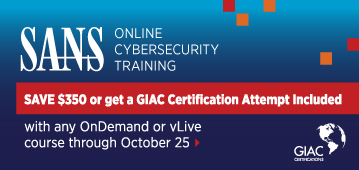 Get a GIAC Cert Attempt Included with Online Training