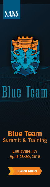 Blue Team Summit and Training 2018