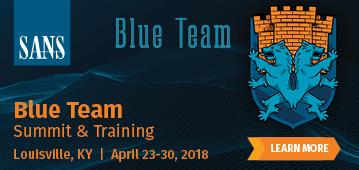 Blue Team Summit and Training 2018