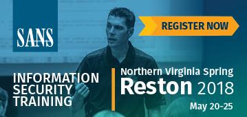 Northern VA Reston Spring 2018