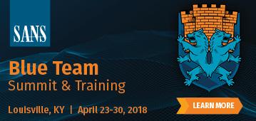 Blue Team Summit and Training 2018  - Louisville