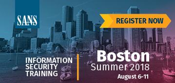 Boston Summer 2018
